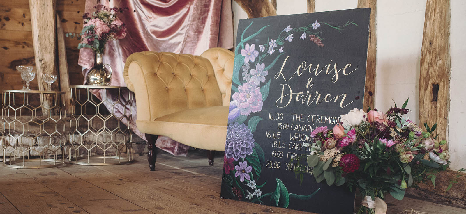 wedding signwriter in Kent
